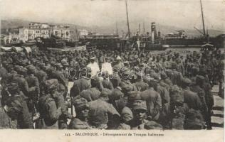 Thessaloniki, the arrival of Italian troops