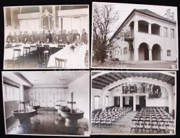 cca 1933 Laktanya, tiszti szálló, ünnepség 4 db fotó