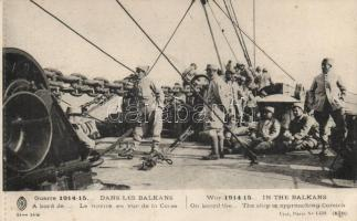 WWI Navy, on board of a ship towards Corsica, in the Balkans, Első világháborús hadihajón, Korzika felé