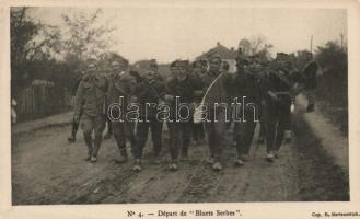 Depart de 'Bluets Serbes' / WWI Military cheerful Serbian soldiers, Első világháborús szerb katonák