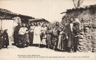 Balkan front, folklore, the visit of a Red Cross nurse, Balkán front, folklór, Vöröskereszt nővérei