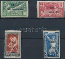 1924 Párizsi nyári olimpia sor felülnyomással Mi 227-230