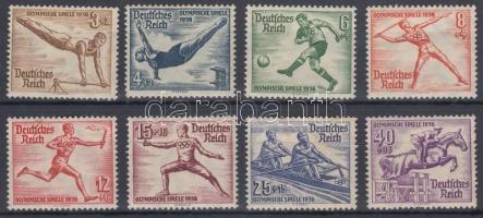 1936 Berlini nyári olimpia sor Mi 609-616