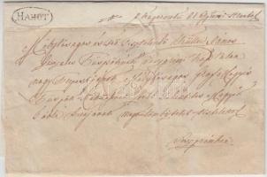 1845 Portós levél / Cover with postage due HAHOT - Veszprém