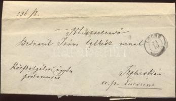 1873 Ex offo a Kolera tárgyában LŐCSE - MARKUSFALVA - LUGSIVNA - Tepliska