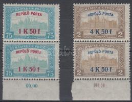 1918 Repülő posta sor ívszéli párokban (30.000)