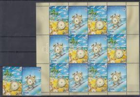 2004 Europa CEPT: Vakáció pár Mi 359-360 A + füzetlap H-Blatt 4