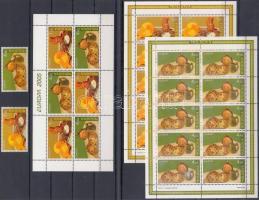 2005 Europa CEPT: Gasztronómia sor + kisív pár Mi 511-512 + füzetlap H-Blatt 6
