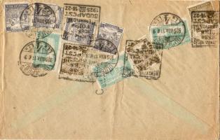 1925 Levél 5000K Arató és Parlament bérmentesítéssel Hollandiába Nemzetközi Vásár reklámbélyegzővel