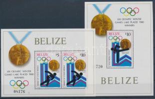 1980 Téli olimpiai győztesek blokksor Mi 20-21