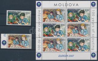 2007 Europa CEPT: Cserkészet sor Mi 582-583 + füzetlap H-Blatt 8