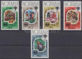 1980 Olimpia sor piros felülnyomással Mi 2080 a-2084 a