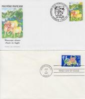USA, Írország, Dél-Afrika, Francia Polinézia 1997 A Bivaly éve 4 FDC