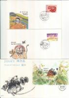 Dél-Korea, Nagy-Britannia Jersey 1996 A Patkány és Bivaly éve 3 FDC
