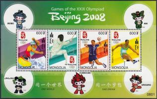 2008 Nyári olimpia: Peking kisív Mi 3707-3710