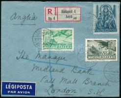 1938 Ajánlott légi levél Londonba / Registered airmail cover to London