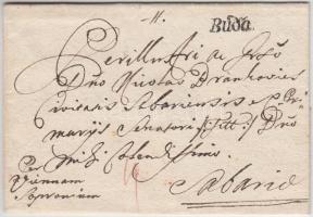 1760 Portós levél tartalommal / unpaid cover with content Buda - Sabaria