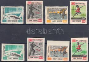 1963 Téli olimpia fogazott és vágott sor Mi 793-796 + 798-802