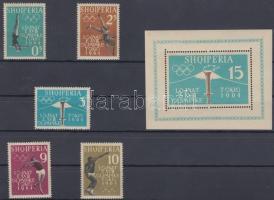 1962 Tokiói olimpia sor Mi 657 A-661 A + blokk Mi 8 A
