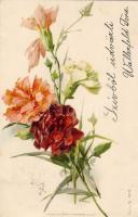 Flower, litho, Virág, litho