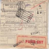Franciaország 10 db vasúti csomagszállító Budapesten