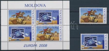 2008 Europa CEPT: A Levél sor Mi 611-612 + bélyegfüzetlap H-Blatt 9