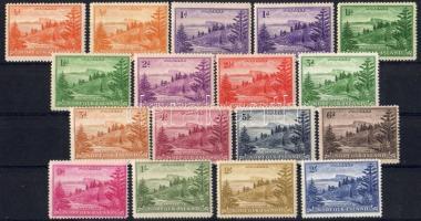 1947/1959 Forgalmi sor + 3 színváltozat / Devinitive set + 3 colour varieties Mi 1-14 (1-3 x-y + 4x)