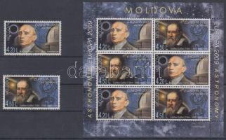 2009 Europa CEPT: Csillagászat sor Mi 650-651 A + bélyegfüzetlap H-Blatt 11