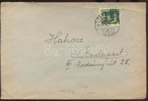 1945 (5. díjszabás) Távolsági levél Kisegítő 10x 2P/4f + 100P/12f bérmentesítéssel