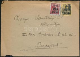 1945 (5. díjszabás) Helyi levél Kisegítő 20P/30f + 60P/18f bérmentesítéssel