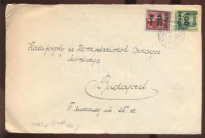 1945 (5. díjszabás) Távolsági levél Kisegítő 20P/30f + 100P/12f bérmentesítéssel