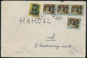 1945 (5. díjszabás) Helyi levél Kisegítő 4x 10P/80f + 40P/8f bérmentesítéssel
