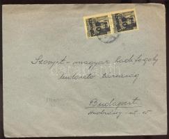 1945 (5. díjszabás) Távolsági levél 2x 60P/18f bérmentesítéssel, cenzúra bélyegzéssel