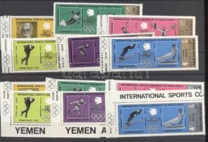 1971 Nemzetközi sportjátékok arany és ezüst ívszéli sor Mi 1295-1306