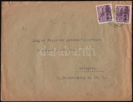 1946 (8. díjszabás) Távolsági levél Betűs II. 2x Cs.5-2./24f bérmentesítéssel