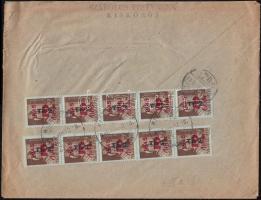 1946 (8. díjszabás) Távolsági levél 250gr-ig 10x Betűs Tl.2./10f bérmentesítéssel