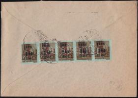 1946 (8. díjszabás) Helyi céges levél 5x Betűs Hl.2./40f bérmentesítéssel