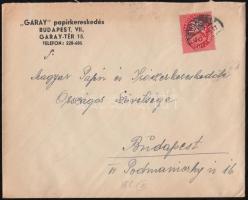 1946 (8. díjszabás) Helyi levél Lovasfutár 10ezerP bérmentesítéssel