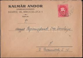 1946 (8. díjszabás) Helyi céges levél Lovasfutár 10ezerP bérmentesítéssel