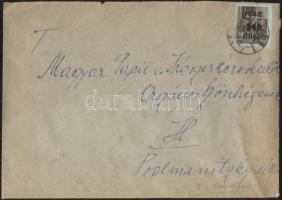 1946 (8. díjszabás) Helyi levél Betűs II. Hl.2./40f bélyeggel tévesen az előző díjszabás szerinti bérmentesítéssel