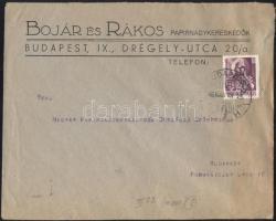 1946 (8. díjszabás) Helyi céges levél Betűs II. Cs.5-2./24f bérmentesítéssel