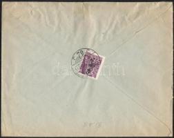 1946 (8. díjszabás) Helyi levél Betűs II. Cs.5-2./24f bérmentesítéssel