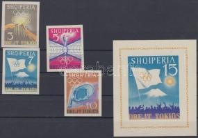 1964 Nyári olimpia, Tokió (IV) vágott sor Mi 828-831 + vágott blokk Mi 23