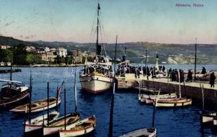 Abbazia, port, Abbázia, kikötő