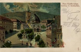 Pécs, Széchenyi tér litho s: H. Deininger