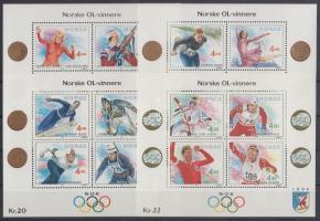 1989-1993 Téli olimpia Lillehammer 4 klf blokk