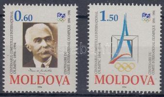 1994 100 éves a Nemzetközi Olimpiai Bizottság sor Mi 126-127 + a sor 2 FDC-n