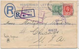 1919 Ajánlott levél az USA-ba