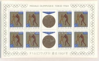 1965 Olimpiai érmesek Tokióban kisívsor 1623-1630