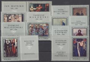 1967 Lengyel festmények szelvényes sor Mi 1864-1871 + kisívsor